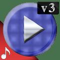 Poweramp v3 skin blue carbon Icon