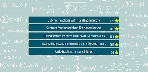 Subtract Fractions Math Game apk