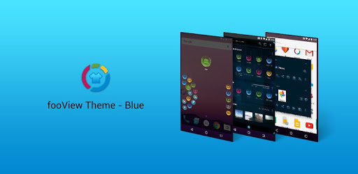 fooView Theme - Mysterious Blue apk