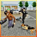 Police Dog Crime Patrol Sniff Icon