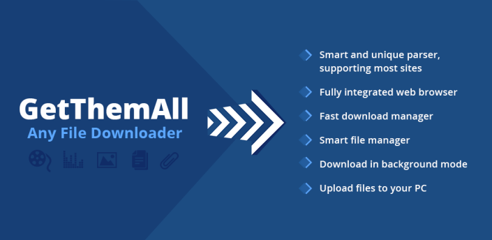 GetThemAll Any File Downloader Browser apk
