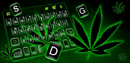 Green Neon Weed Keyboard Theme apk