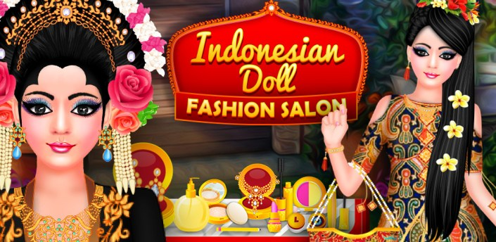 Indonesian Doll Fashion Salon Dress up & Makeover apk