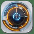 3D Neon Blue Clock Icon