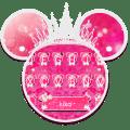Cute Pink Crown Minny Keyboard Theme Icon