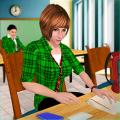 School Girl Simulator: High School Life Games Icon