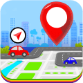 GPS,Map,Navigate,Traffic alerts & Area Calculating Icon