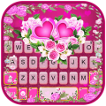 Pink Rose Flower Keyboard Theme Icon