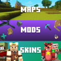 Skins, Mods, Maps for Minecraft PE Icon