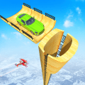 Mega Ramp Race - Flying Car Stuntman Ramp Racing Icon