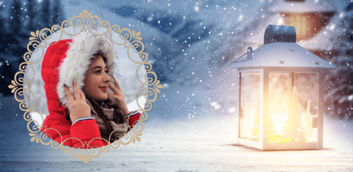Winter Frames for Pictures with Snowfall apk