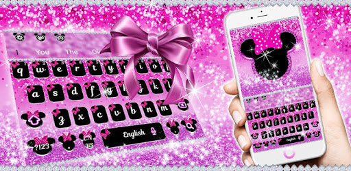 Cute Minny Pink Bowknot Keyboard Theme apk