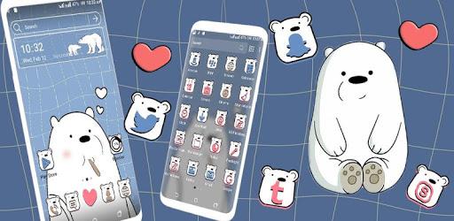 Ice Bear Launcher Theme apk