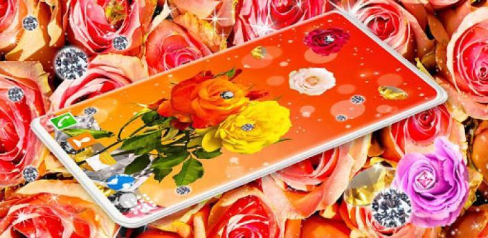 Diamond Rose Live Wallpaper ❤️ Shine HD Wallpapers apk