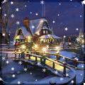 Christmas Winter Snow Night Live Wallpaper Icon