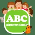 Alphabet family Flashcards ABC Icon