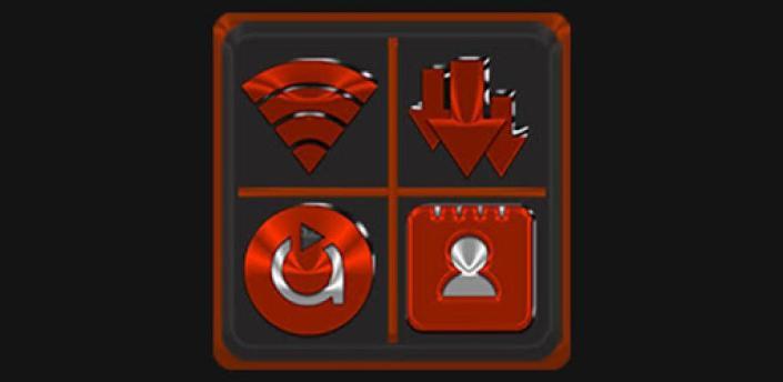 Red Orange Icon Pack Free apk