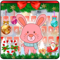 Cute Bunny Christmas Keyboard Theme Icon