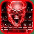 Fiery 3d Skull Keyboard Theme Icon