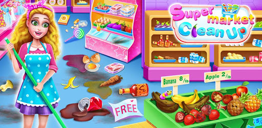 Supermarket Clean Up-Grocery Store Cleaning Games apk