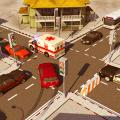 City Traffic Control Simulator: Intersection Lanes Icon