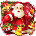 Joyful 3D Red Christmas Theme Icon