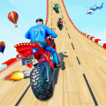 Police Bike Mega Ramp Impossible Bike Stunt Games Icon
