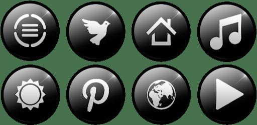 Glass Black - Icon Pack apk