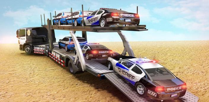 Grand US Police Car Transport Truck: Parking Game apk