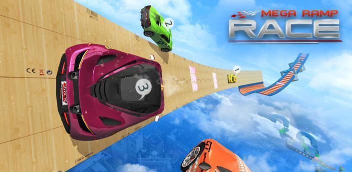 Mega Ramp Race - Flying Car Stuntman Ramp Racing apk