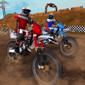 Dirt track bike racing: Offroad moto racer Icon