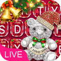 3D Merry Christmas Keyboard Icon