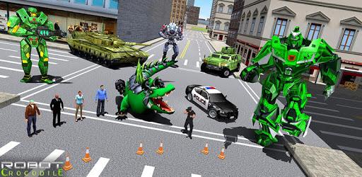 Real Robot Crocodile - Robot Transformation Game apk