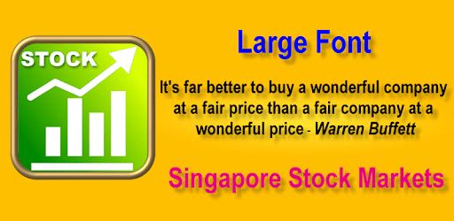 Stocks: Singapore Stock Markets - Large Font apk