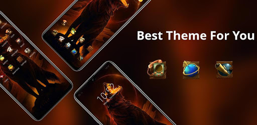 Full moon night theme howling the wolf king apk
