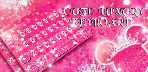 Cute Pink Crown Minny Keyboard Theme apk