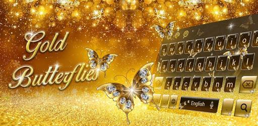 Gleam Butterfly keypad Theme apk