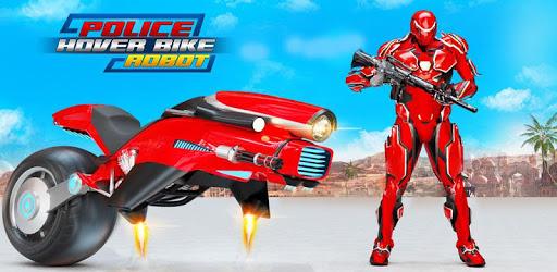Flying Moto Robot Hero Hover Bike Robot Game apk