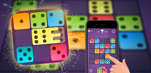 Dominoes puzzle - merge blocks with same numbers apk