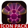 PINK icon pack pink glow black gold Icon