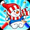 Snowman Coloring Book Icon