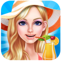 Fashion Girls Summer Party Icon