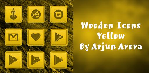 Wooden Icons Yellow By Arjun Arora apk