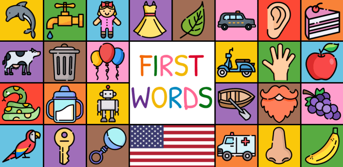 First Words Flashcards for baby/toddler/kids - US apk
