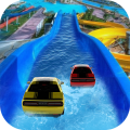 Waterpark Ride & Water Surfing Car Stunts & Slides Icon