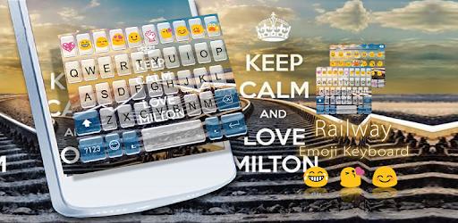 Railway Emoji Keyboard Theme apk