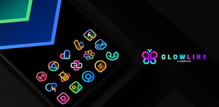 GlowLine Icon Pack apk