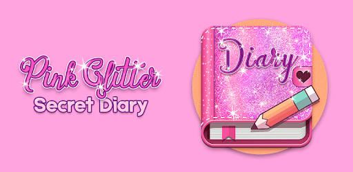 Cute Pink Secret Diary with Glitter apk