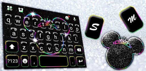 Silver Glitter Minny Keyboard Theme apk