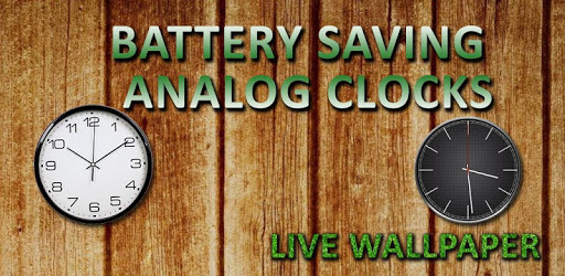 Battery Saving Analog Clocks Live Wallpaper apk